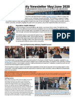 Rutgers IFH Community Outreach Newsletter May - June 2020