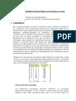 CURVA DE CRECIMIENTO DE BACTERIAS LACTICAS EN LA LECHE