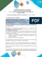 Guia de actividades y Rúbrica de evaluación - Unidad 2 - Fase 3 - Análisis