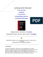 Parapsychology and the Paranormal