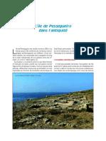 PH - L'ile de Pessegueiro dans l'Antiquité