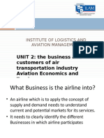Unit 2 The market for air transport