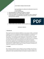 TALLER DE TRABAJO VARIABLES DE INVESTIGACIÓN