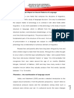 written report lingiustic