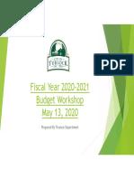 Turlock Budget Workshop PowerPoint Presentation 5/13/20
