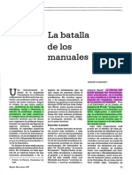 5. La batalla de los manuales. Colmenares