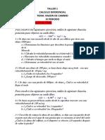 TALLER 1 DE RAZON DE CAMBIO IIIPERIODO  CALCULODIFERENCIAL (1) (1)
