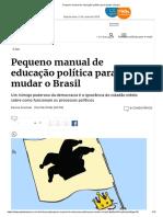 Pequeno manual de educação política para mudar o Brasil