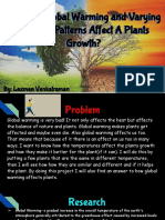 how does global warming and varying weather patterns affect a plants growth -laxman venkatraman