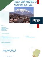 Evolucion Urbanistico de La Paz