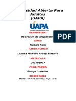 Trabajo Final de Operacion de Alojamiento ( Laycha Araujo)