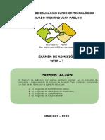 EXAMEN DE ADMISIÓN 2020-I - CON RESPUESTAS