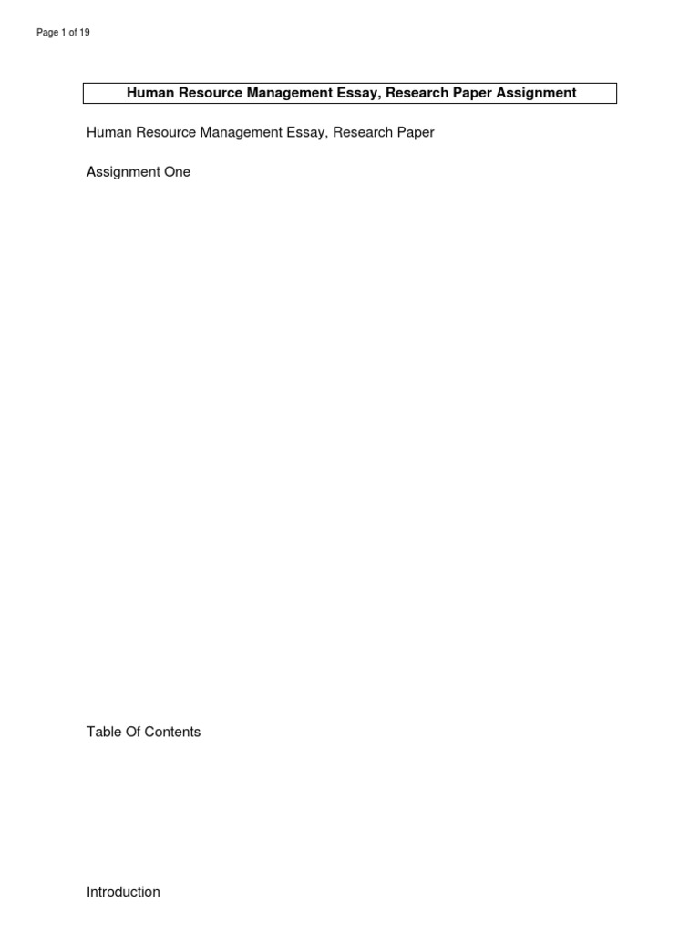 human resource management essay papers  human resource management essays and papers