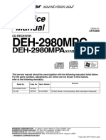 Manual de serviço Pionner DEH-2980MPA