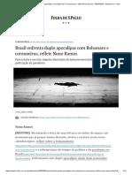 Brasil enfrenta duplo apocalipse com Bolsonaro e coronavírus - Nuno Ramos