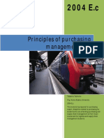 principles of purchasing management I