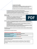 Papel de Trabajo para Documentar la Fiabilidad del Trabajo de Expertos - Diligenciado