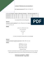 Ejercicios Semana 6 Introducción a Las Matemáticas