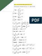 MATE - Tabele Integrale Si Derivate
