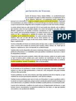 Informe del departamento de finanzas