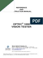 MANUAL VISIOMETRO OPTEC-1000