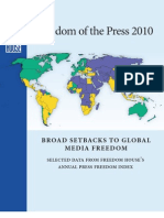 Freedom of the Press 2010 Tables