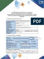 Guía de actividades y rúbrica de evaluación - Fase 6 - Controlar y Valorar Seguimiento y evaluación final trabajo realizado