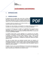 EXPLOTACIÓN SUBTERRÁNEA - Etapas-Labores-Clasificación