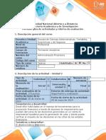 Guía de actividades y rúbrica de evaluación - Paso 3 - Plan de mejoramiento