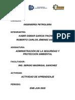 ADMINISTRACIÓN DE LA SEGURIDAD E HIGIENE