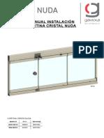 Manual Instalación Cortina Cristal NUDA
