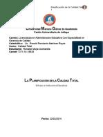 PLANIFICACIÓN DE LA CALIDAD TOTAL UMG 22 MARZO 2014