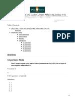 iasbaba.com-UPSC Quiz  2020 IAS Daily Current Affairs Quiz Day 145