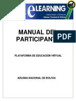 MANUAL DE LA  PLATAFORMA PARA EL PARTICIPANTE