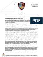 Des Peres Department of Public Safety news release