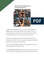 Concepto de Fuerza y Tipos de Fuerza en El Entrenamiento Muscular