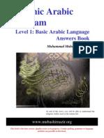 Arabic Grammar - Level 01 - English Answers