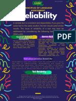 principles of language assessment reliability