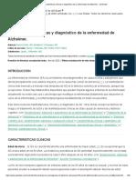 Características clínicas y diagnóstico de la enfermedad de Alzheimer - UpToDate