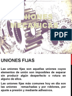 UNIONES  MECANICAS