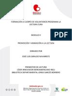 MODULO II PROMOCION Y ANIMACION A LA LECTURA