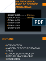 Anatomy and clinical significance of denture bearing areas
