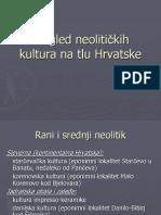 Pregled Neolitickih Kultura Na Tlu Hrvatske