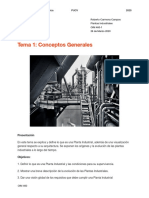 Tema 1- Conceptos Generales Plantas Industriales