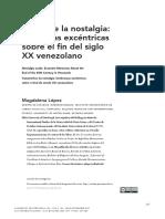 Fugas de la nostalgia memorias excéntricas sobre el fin del siglo XX venezolano revista.pdf