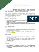 PROCESO DE CREACIÓN LEYES DE FACULTADES EXTRAORDINARIAS Y APROBATORIAS DE TRATADO INTERNACIONAL