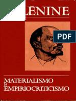 Vladimir Ilich Lenin - Materialismo e Empiriocriticismo.pdf