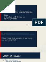 Java BCS Crash Course Jan 2016