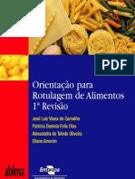 Livro Orientação para Rotulagem de Alimentos
