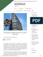 Principales modificaciones a las NTC de acero – Cámara Mexicana de la Industria de la Construcción